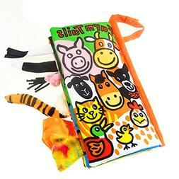 Leegor Animal Tails Cloth book Baby Toy Cloth Development Bo