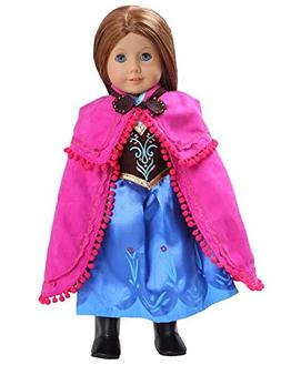Anna Frozen Inspired Doll Clothes  for American Girl Doll