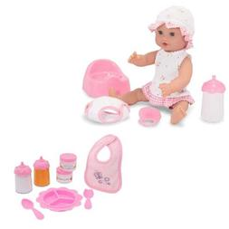 """Melissa & Doug Annie 12"""" Drink and Wet Doll Plus Time to Eat"""