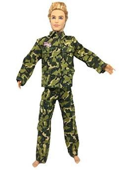 Army Combat Uniform Outfit for Ken doll Clothes For Barbie B