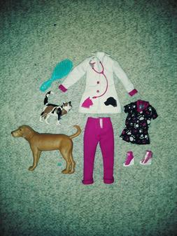AVA STARS VETERINARIAN CLOTHES AND ACCESSORIES FIT BARBIE AN