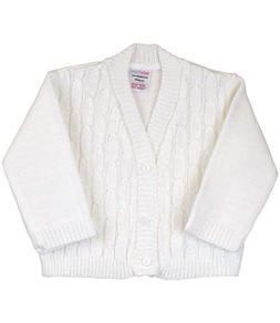 BabyPrem Baby Boy's Cardigan Acrylic White Cable Knit 0-6 Mo