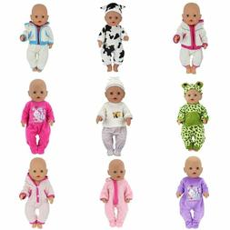 Baby Doll Clothes Fit 17 inch Girls Dolls Dress 43cm Pajamas