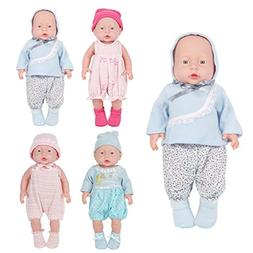 Huang Cheng Toys Set of 4 Alive Lovely Baby Doll Clothes Dre