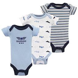 Luvable Friends Baby Preemie Bodysuit, 3 Pack, Airplanes