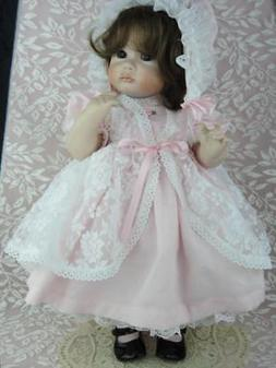 Baby Toddler Doll CLOTHES - DRESS  BONNET  SHOES for Antique