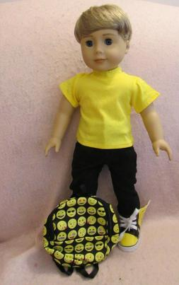 Backpack Jeans Set fits American Boy Doll 18 Inch Clothes Se
