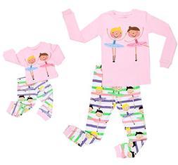 "Elowel Ballerina"" Matching Girl & Doll 2 Piece Pajama Set 10"
