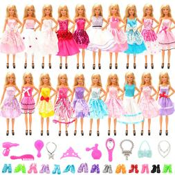 Barwa for Barbie 10 Random Banquet Skirt + 10 Dress Up Acces
