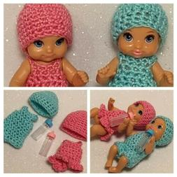Barbie Baby Doll Handmade Dress Hat Clothes Miniature Access