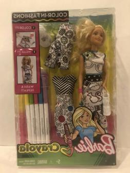 Barbie Crayola Color-In Fashions Doll Blonde Brand New In Bo