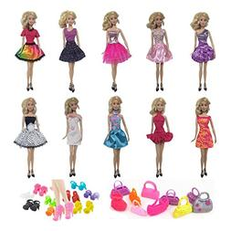 Himez Barbie Doll Clothes, Barbie Clothes Fashion Doll Cloth