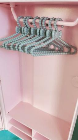 Barbie Doll Accessory Clothes Hangers💓Plastic Set Beaded