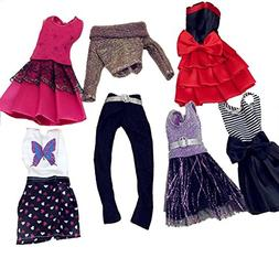 MLANLAN Barbie Doll Dress Clothes Set Party Gown Outfits for