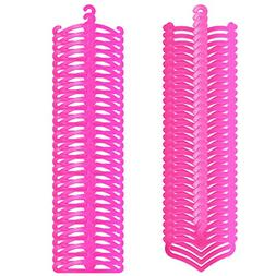 Barbie doll clothes hangers, AOFUL Mini samll size Hanger Do