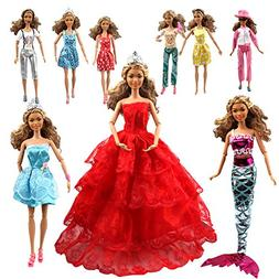 Tatuer 110PCS Barbie Doll Clothes and Accessories Include-10