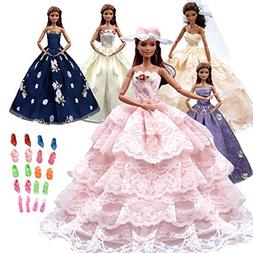 Tatuer 17pcs Barbie Doll Clothes and Accessories Include -5