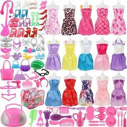 SOTOGO 106 Pcs Doll Clothes Set Fit for  Dolls Include 15 Pa