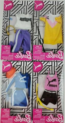 Barbie Fashion Pack PUMA Outfit for Doll -  Blue Skirt Top H
