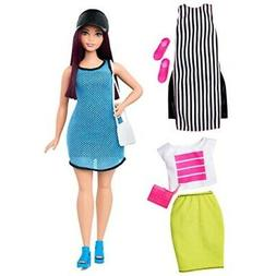 Barbie Fashionistas Doll - Blue Dress, White & Black Tunic,