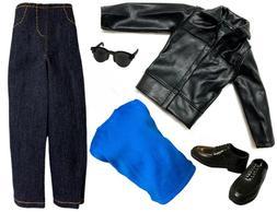 "11.5"" 12"" BOY Doll Clothes Lot Shoes Fashion Pack Black Ja"
