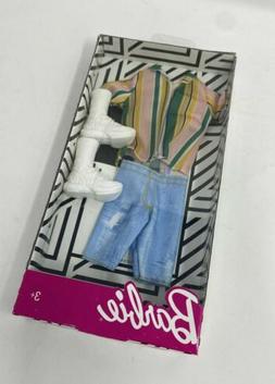 Barbie  Ken Fashion Pack Retro Striped Shirt, Denim Shorts W