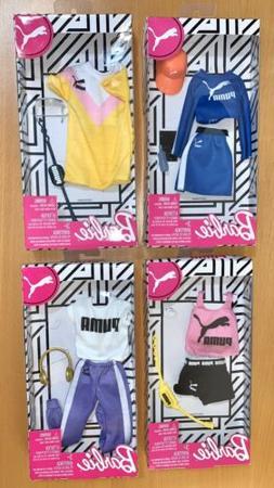 Barbie PUMA FASHION PACK Doll Clothes Set Of 4 Top Skirt Sho