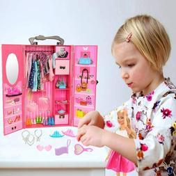 BARWA Fashion Closet Wardrobe 73 Pcs Doll Accessories 16 Pac
