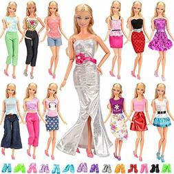 Lot 20 Items 10 Set Fashion Handmade Clothes Outfit 10 Pairs