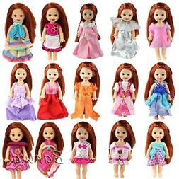 Barwa Lot 6pcs Fashion Clothes Outfit Dress for Barbie's Sis