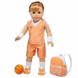 Basketball Uniform for American Girl Dolls (Includes Jersey