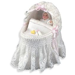 Baby Bassinette Dollhouse Miniature By Reutter Porcelain