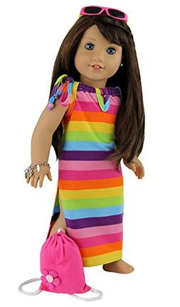 "4 Piece Beach Dress set Fits 18"" 18"" American Girl Doll Clot"
