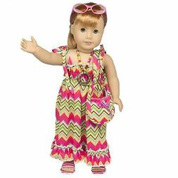 Beach Dress Outfit for American Girl Dolls