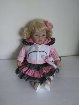 beautiful doll 19 cloth and vinyl wearing