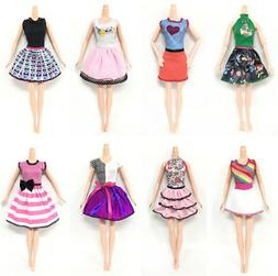 6pcs/Lot Beautiful Handmade Party Clothes Fashion Dress for