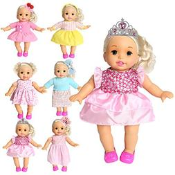 rainbow yuango Pack of 6 Bitty Baby Alive Doll Clothes Color
