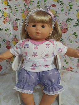 Bitty baby clothes,doll outfit,blouse and diaper covers with
