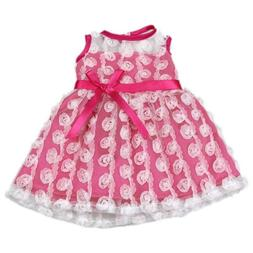 AOFUL Bitty Baby Doll Clothes Dress, Pink Pretty Summer Dres