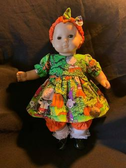 """Bitty Baby Doll Clothes Handmade 4 15"""" Dolls Blue Checkered"""