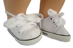 For Bitty Baby Doll Clothes White Canvas Sneakers Shoes Acce