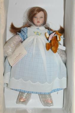 """Pauline Bjonness-Jacobsen Porcelain & Cloth Doll """"Lee"""" 12"""" L"""