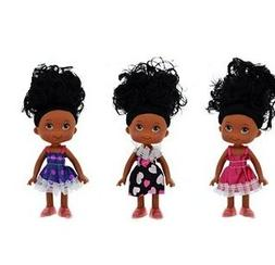 "Black African American Baby Girl Dolls Movable 5"". Goes grea"