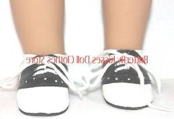 Black & White Saddle Oxford Shoes 18 in Doll Clothes Fits Am