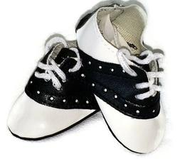 Black & White Saddle Shoes made for 18 inch American Girl Do