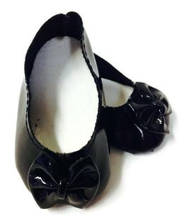 Black Bow Shoes made for 18 inch American Girl Doll Clothes