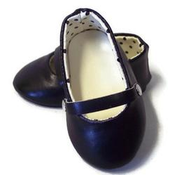 Black Flats Shoes made for 18 inch American Girl Doll Clothe