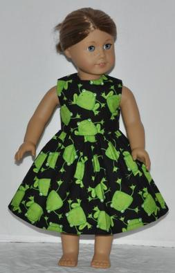 Black Green Frog Doll Dress Clothes Fits American Girl Dolls