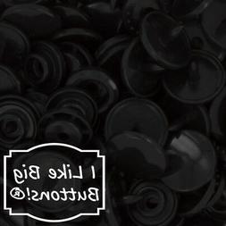 Black KAM Plastic Resin Snaps Crafts Baby Cloth Diapers Bib