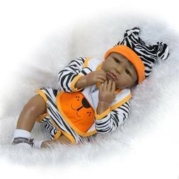 "Black Reborn Baby Dolls 22"" African American Toddler Bebe wi"